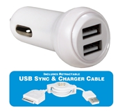 2-Port 2.4Amp USB Car Charger Kit for iPod/iPhone/iPad/iPad 2/iPad 3 USBCC-K2 037229334166 USB Apple/Dock Charger Cable Kit, 2.4Amp Dual-Port Charger for GPS, MP3 player & smart phone including Apple iPod/iPhone/iPad2 USBCC-2P  365957 QZ4937 USBCCK2 USBCC-K2 cables