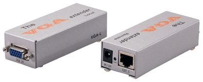 180-Meter VGA/QXGA CAT5/RJ45 Extender Kit VGA-C5E 037229006704 VGA/SXGA CAT5e Extender Kit, Signal Repeater, Up to 180 meters & 1280x1024 resolution, HD15F/RJ45F VGA-E   VGAC5E VGA-C5E    meters  3908