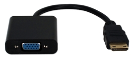 Mini-HDMI to VGA Video Converter XHDVC-MF 037229001242